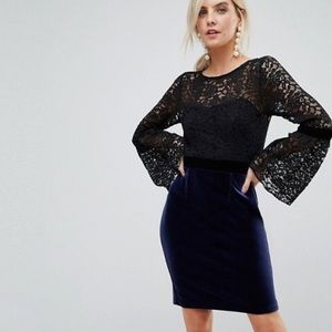 ASOS Paper Dolls Midi Lace Dress